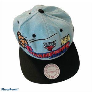 DYED Blue VTG Chicago Bulls 1996 Snapback Hat